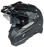 protectWEAR Endurohelm Crosshelm mit Sonnenblende, Visier und Schild THH-TX28-XL, schwarz