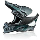 O'NEAL   Motocross-Helm   MX Enduro Motorrad   Innovative und leichte Fiberglas Außenschale, Doppel-D-Sicherheitsverschluss   F-SRS Helmet Glitch   Erwachsene   Schwarz Grau   Größe L