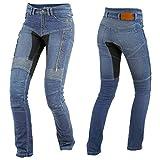 Trilobite Parado Dupont Kevlar Jeans Dames - Blau // Motorradjeans // inkl. Protektoren - Größe Inch 30 Länge 32