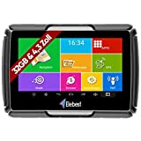 Elebest Motorrad und PKW Navigationsgerät Rider A43 Pro, Navi, 4.3 Zoll Bildschirm Android 6.0 - Bluetooth W-LAN Wasserfest 32GB Speicher Fahrspurassistent Radarwarner