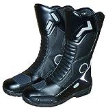 Protectwear Tourenstiefel SB-11026 aus schwarzem Leder u.a. zum Motorradfahren geeignet Größe 43