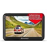 Navigation für Auto, Aonerex 5 Zoll Touchscreen GPS Navi für LKW PKW KFZ 8 GB Navigationsgerät mit Neueste UK Europa Karte Lebenslang kostenlos Kartenupdate