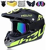 KTMAID Kinder Motorradhelm,Kinder Crosshelm,Motocross Helm,Fullface Helm Endurohelme,Motorrad Crosshelm für Mountainbike ATV BMX Downhill Offroad (M (54-55 cm))