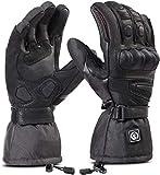 Beheizbare Handschuhe, Beheizbare Motorradhandschuhe, wasserdichte und Warme Motorradhandschuhe mit CE-Zertifizierung Wiederaufladbarem Lithium Ionen Akku Handschuhe 7.4V 2200MAH
