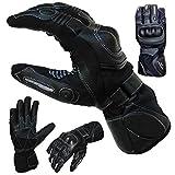 PROANTI Sommer Regen Motorradhandschuhe mit Visierwischer Motorrad Handschuhe (XL)